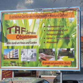 TAF Services Objektbetreuung - Plakatwerbung