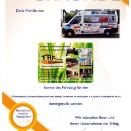 TAF Services Objektbetreuung - Urkunde Soziales