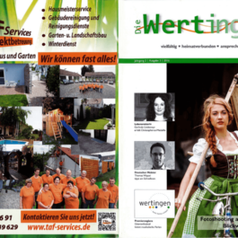 TAF Services Objektbetreuung - Werbefläche Die Wertinger Magazin